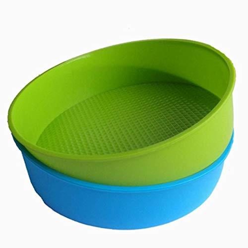 ackformen 26cm/10 Zoll runden Kuchen Form Backen Pfanne Blaue und grüne Farben sind zufällig. ()