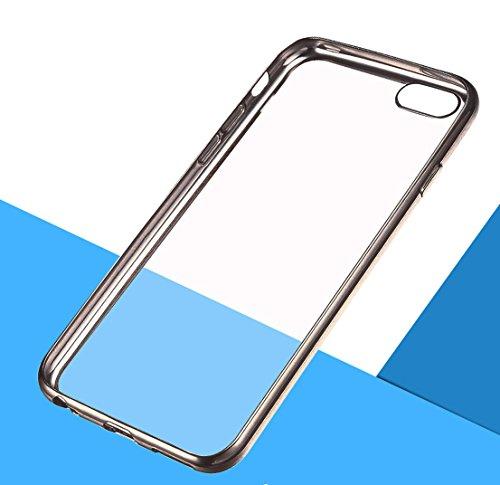 keywants Téléphone portable pour iPhone 14cm, écran ultra fin de Luxe Plaqué cristal Étui souple en TPU Transparent Panneau arrière pour iPhone 6Plus/6S Plus