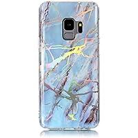 "Ultra Dünn Slim Anti-Rutsch Flexible 3D Marble Kreative Soft Licht Gel Gomma TPU Bling Glitter Glitzer Silikon Schutz Handy Hülle Case Tasche Etui Bumper für Samsung S9 5,8"""