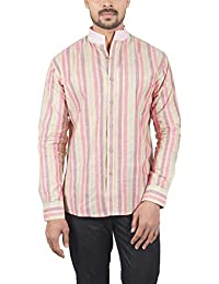 Bihar Khadi (A Bihar Govt. Enterprise Men's Shirt (Multi-Colored, Medium)