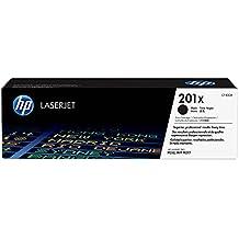 HP 201XL - Cartucho de tóner Original HP 201X Negro de álta capacidad para HP Color LaserJet Pro MFP, M277, M252