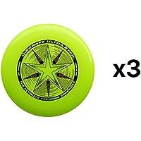 Discraft Ultra-Star Ultimate Frisbee 175 Gram Championship -Yellow (3-Pack)