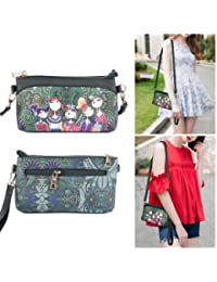 SLB Works Brand New 1x High Quality PU Ladies Green Cartoon Handbag Shoulder Bag Female Handbag Pop*