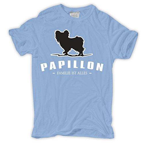 Männer und Herren T-Shirt Papillon - Familie ist alles Größe S - 8XL Hellblau