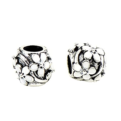 Bling Stars Christmas Gifts Enamel Flower Beads Fit Pandora Charms Bracelets