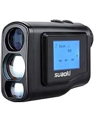 Suaoki 600m Télémètre Golf Prismatique Monoculaire Professionnelle (Côté d'affichage LCD, Amplification 6x, Gamme et Gamme Calculatrice, Utilisation Tactique, etc.) Noir