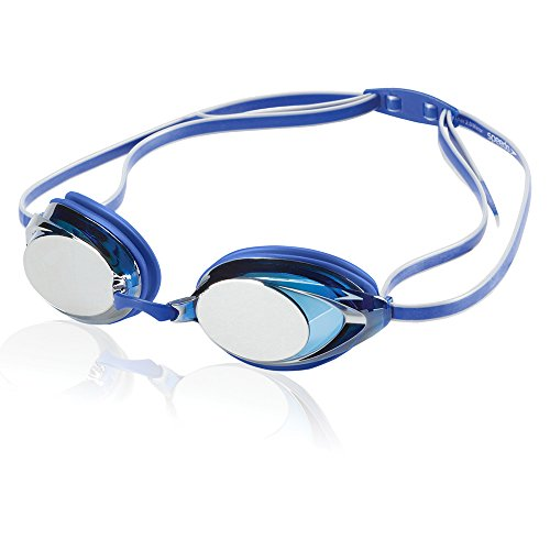 Speedo Vanquisher 2.0 Mirrored Swim-Swimming Racing Goggles-Blue Anti-Fog (Speedo Racing-schutzbrillen)