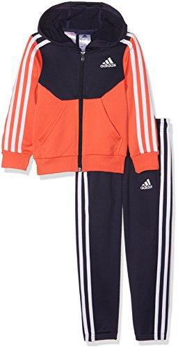 adidas Mädchen Yg Hood Pes Ts Trainingsanzug, Multicolor (Tinnob/Corsen/Blanco), 140