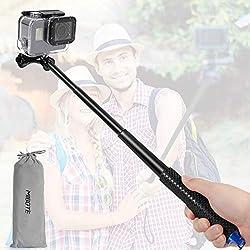 Mibote Selfie Stick estensibile per GoPro Self Portrait impermeabile in alluminio Selfie Stick Pole con treppiede monopiede per GoPro Hero 2018 /6/5/4 Session 3+ 3 ecc. ideale per surf, sci, immersioni, viaggi, ecc.