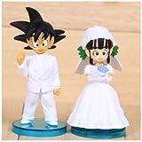 DRAGON BALL - SET 2 FIGURAS GOKU & CHICHI 8cm BODA / 2 FIGURES WEDDING SET