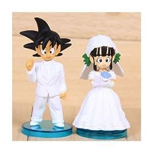 Dragon Ball 2 Figures Set Goku Amp Chichi Wedding Set