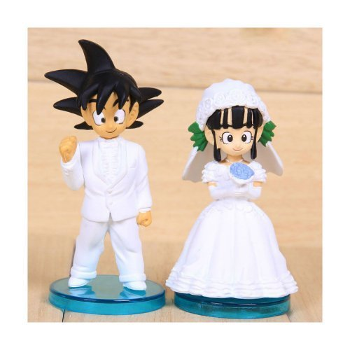 DRAGON BALL - SET 2 FIGURAS GOKU & CHICHI 8cm BODA / 2 FIGURES WEDDING SET