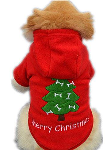 ropa de abrigo para mascotas navidad,RETUROM nueva Navidad para mascotas ropa para perros perrito traje de Santa Claus vestir exteriores gruesa ropa Escudo (XL)