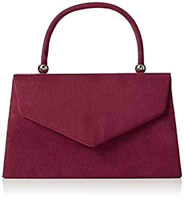 SwankySwans Women's Kendall Suede Envelope Party Prom Clutch Bag Clutch