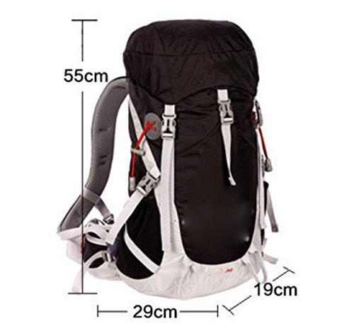 Outdoor Bergsteigen Rucksack Männer Und Frauen Mit Wasserdichte Abdeckung Wandern Rucksack,Black Black
