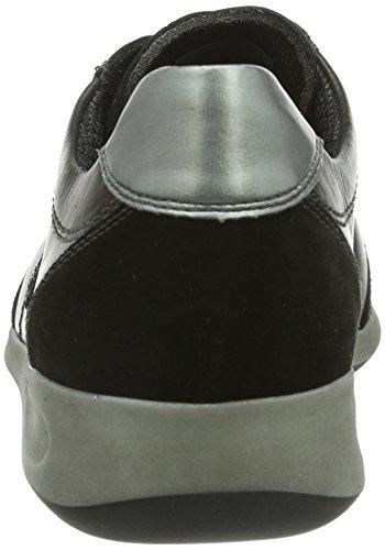 Ara - Rom, Sneakers da donna Nero (Schwarz (schwarz,gun)