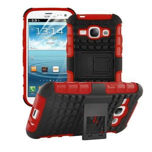 Handy Tasche Hybrid Case Schutz Hülle Panzer TPU Silikon Hard Cover Bumper für Samsung Galaxy S3 / S3 Neo Rot ()