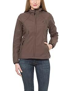 Ultrasport Damen Softshell Jacke mit Kapuze Estelle, braun, XS, 20215