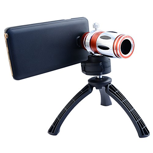 Apexel Telescope 12.5x Zoom Telephoto Manual Focus Long Focal Camera Phone Lens with High-end Tripod for Samsung Galaxy Note 2 3 4