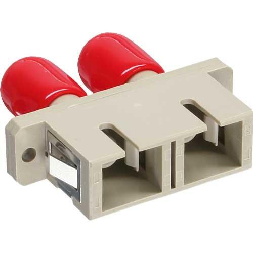 InLine 89991D LWL Kupplung, Duplex ST/SC, multimode, Keramik-Hülse zum Einbau beige -