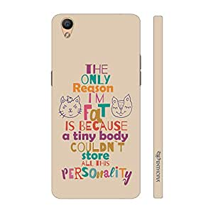 Enthopia Designer Hardshell Case Fat Personality Back Cover for Oppo R9