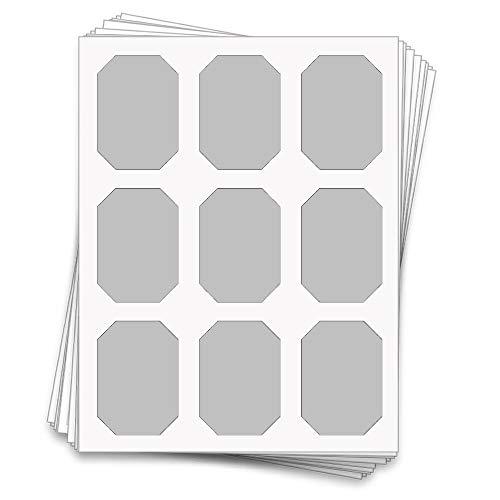45 bedruckbare Etiketten für Süßigkeiten-Buffet für Gläser und Behälter, 7,6 x 5,1 cm Gray Matte (Laser Or Inkjet)