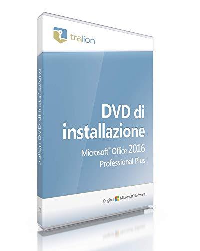 Microsoft Office 2016 Professional Plus - incluso DVD Tralion, inclusi documenti di licenza, audit-sicuro