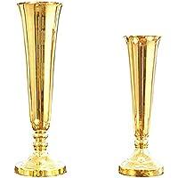 GH Vase Goldene Vase Blumenarrangement Europäischen Tisch Dekoration  Simulation Trockene Blume Wohnzimmer Metall Licht Luxus Einrichtung