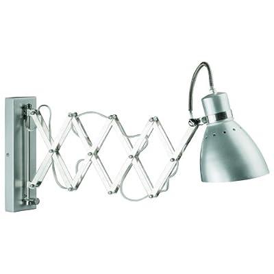 Spring gebürsteter Stahl dimmbare ausziehbare Wandlampe Steinhauer 6290ST von Steinhauer - Lampenhans.de