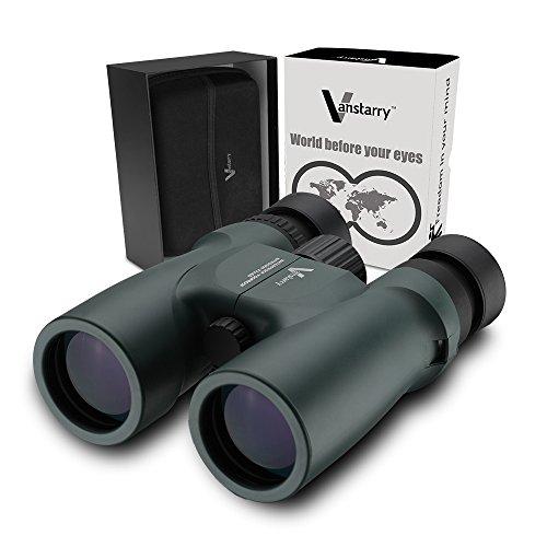 Vanstarry Optics 10X42 Binocolo ad alta potenza per il birdwatching. Viste luminose e chiare per ore di birdwatching, escursionismo ed esplorazione. Impermeabile. Prova di nebbia
