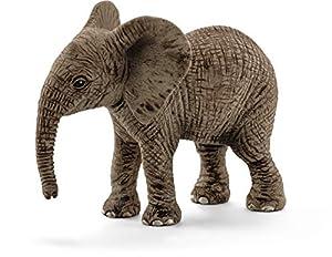 Schleich-14763 Figura de Cría de Elefante Africano, Colección Wild Life, Color Gris, 6.8 cm (14763)