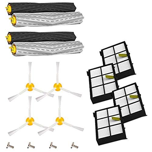 LomsarshComponenti per spazzare Robot - Spazzola Principale + Spazzola Laterale + Accessori Filtro per iR-Roomba 800 900 Series - Detergente per spazzole