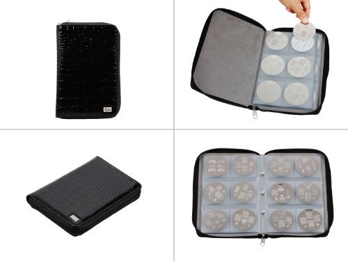 bundle-monster-nail-stamp-stamping-plate-zippered-synthetic-leather-case-plates-holder-organizer