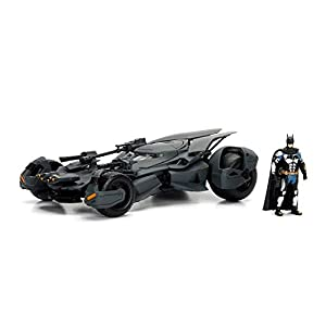 Jada- Batmóvil Coche Metal La Liga de la Justicia 1:24 coleccionismo, Color negro (253215000)