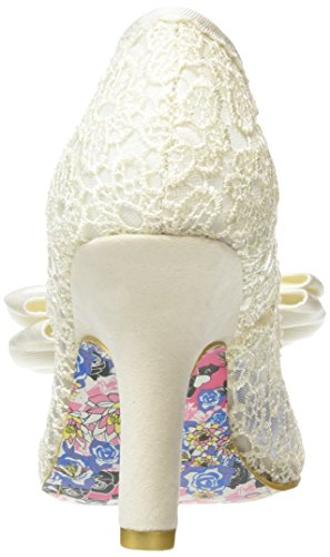 Irregular Choice Mal E Bow Damen Pumps Off White (Cream)