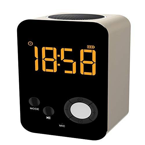 HPTCLYYX Reloj Alarma Reloj Bluetooth Tarjeta de Altavoz Espejo Teléfono portátil Ordenador...