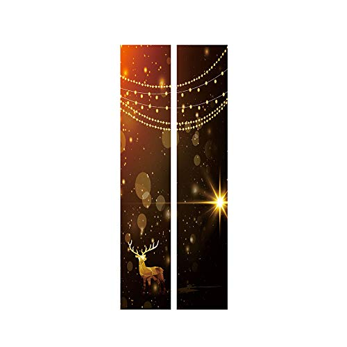 ODJOY-FAN Weihnachten Dekoration Türaufkleber Wandaufkleber Entfernbar Tür Aufkleber Wandgemälde Wand Aufkleber Weihnachten Zuhause Abziehbild (38,5 x 200 cm)(B,1 PC) (Braun-wand-abziehbilder)