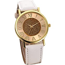 Mallom Women's Watch Glitter Dial Watch White Band Free Delivery