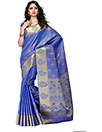 [Sponsored Products]Mimosa Women's Tassar Silk Saree With Blouse Piece (178-Rblu,Royal Blue,Free Size)