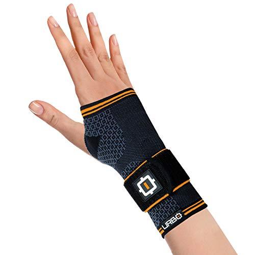 Urbo Bandage Handgelenk ergonomische Unterstützung, Handbandage bei Problemen wie Karpaltunnelsyndrom, Mausarm, Tendinose und anderen Verletzungen durch wiederholte Belastung (groß, rechts)