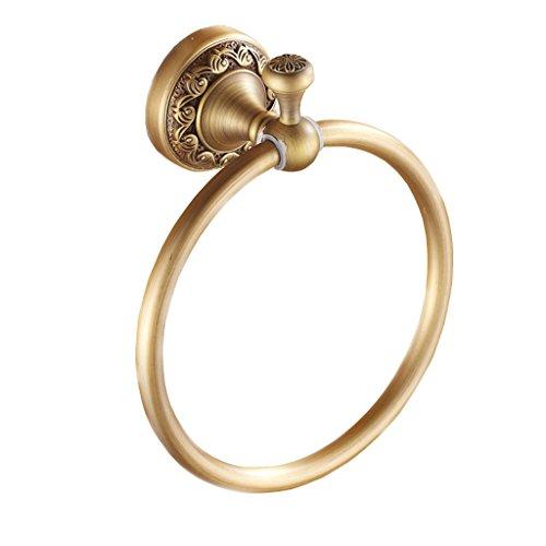 Anello di tovagliolo antico portasciugamani Hanging Bagno Hardware intagliato Pendente ( colore : Brass )