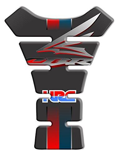 Tankpad Motorad Draht Muster Tankschutz KOMPATIBEL ' HONDA CBR 1000 HRC 'Polymer 3D 20 cm x 14 cm