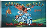 Flagge Harley und Whiskey - 90 x 150 cm