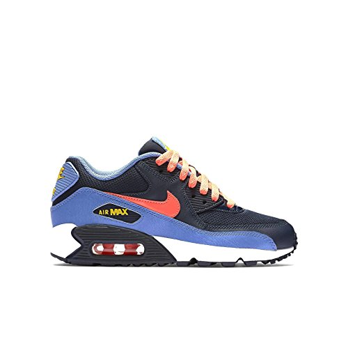 Nike Youths Air Max 90 Mesh Leather Trainers Bleu