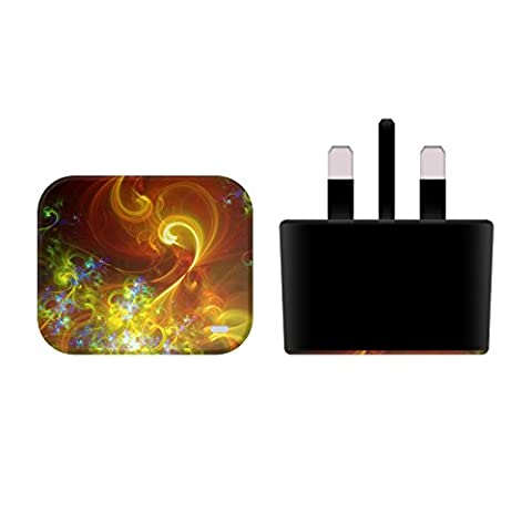 Official Andi GreyScale The Garden Cosmic Swirls Black UK Charger & Micro-USB Cable for Huawei Mate S