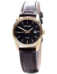 66158a7ad2d0 Citizen Reloj Analógico para Mujer de Cuarzo con Correa en Cuero EU6002-01E