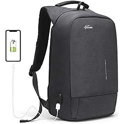 """Fresion Sac à Dos Homme Ordinateur Portable 15,6"""" - Sac à Dos Antivol Étanche avec Port de Charge USB pour Voyage Affaires École"""