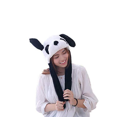 Duevin Mode niedlichen Tier Gesicht plüsch hüte Frauen im freien beweglichen Schwein Ohren Ohren mütze