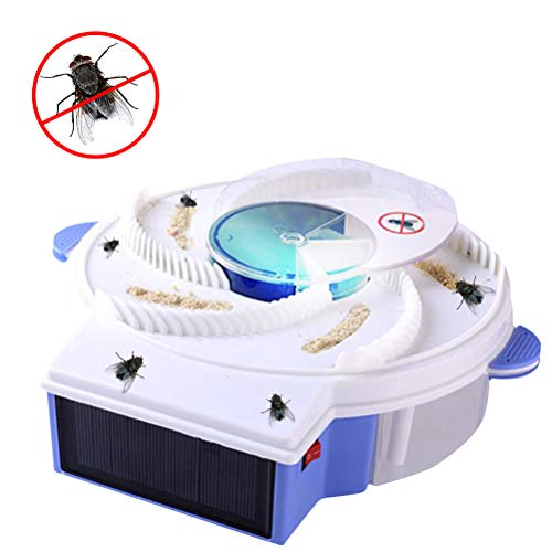 EisEyen Autumatic Flycatcher Solar Energy Fliegenfalle Gerät Elektrische Fly Trap Artefakt Trapping -