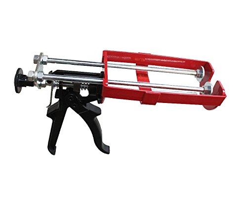 ! NEU ! Profi- Doppelkartuschenpresse 2K- Kartuschenpistole 2K- Doppelkartuschenpresse Zargenschaum DM21 Metall für 210ml